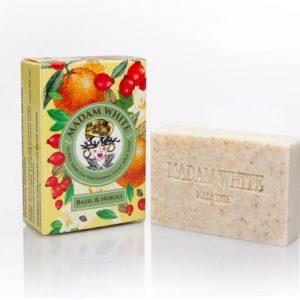 Madam White Alpha Arbutin Goatmilk Soap (Neroli + Basil)