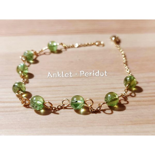 anklet peridot
