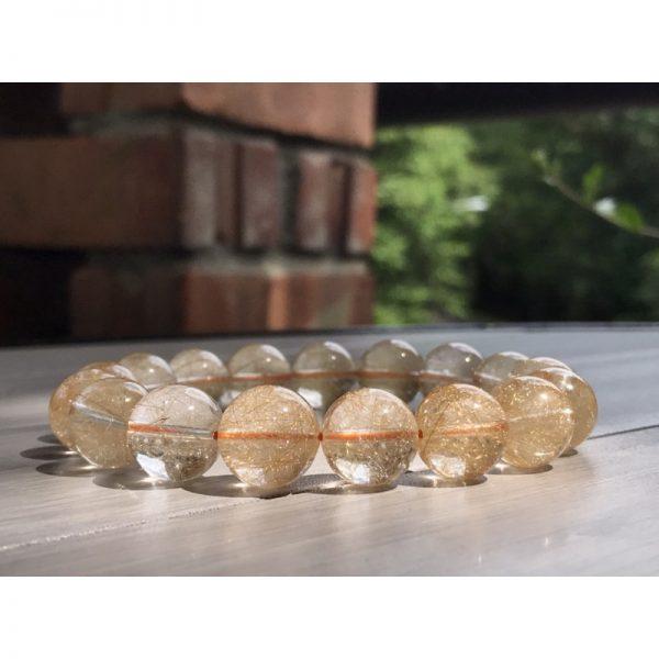 gold rutile bracelet
