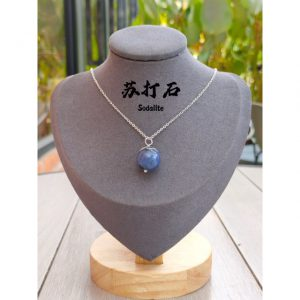 Natural crystal necklace